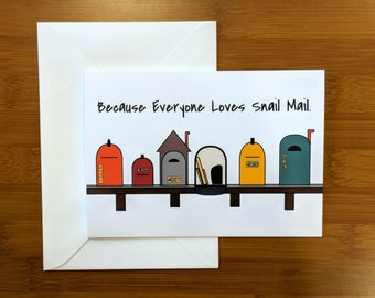 Mailbox Greeting Card // Just Because // Snail Mail // Thinking Of You