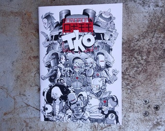 Art zine/comic.  Robomomo, a collection of illustrations and a comic by Mark Pingriff.