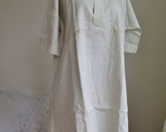 Linen Nightgown - Chemise  - Medieval linen dress with Monogramm