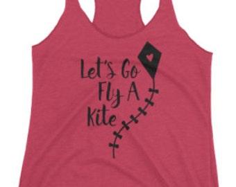 Let's Fly A Kite women's tank