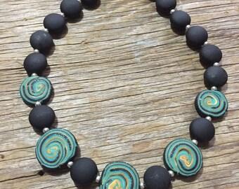 Djinn - Dark Unique Handmade Statement Necklace