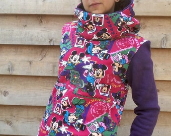 MINNIE Hoodie Sweatshirt Sweater Handmade Recycled Upcycled One of a Kind Ladies SMALL