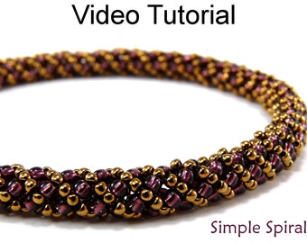 Beading Tutorial Pattern Russian Spiral Stitch Beaded Jewelry Making Bracelet Necklace Video Spiraling Tubular Bead Beginner Easy #9701