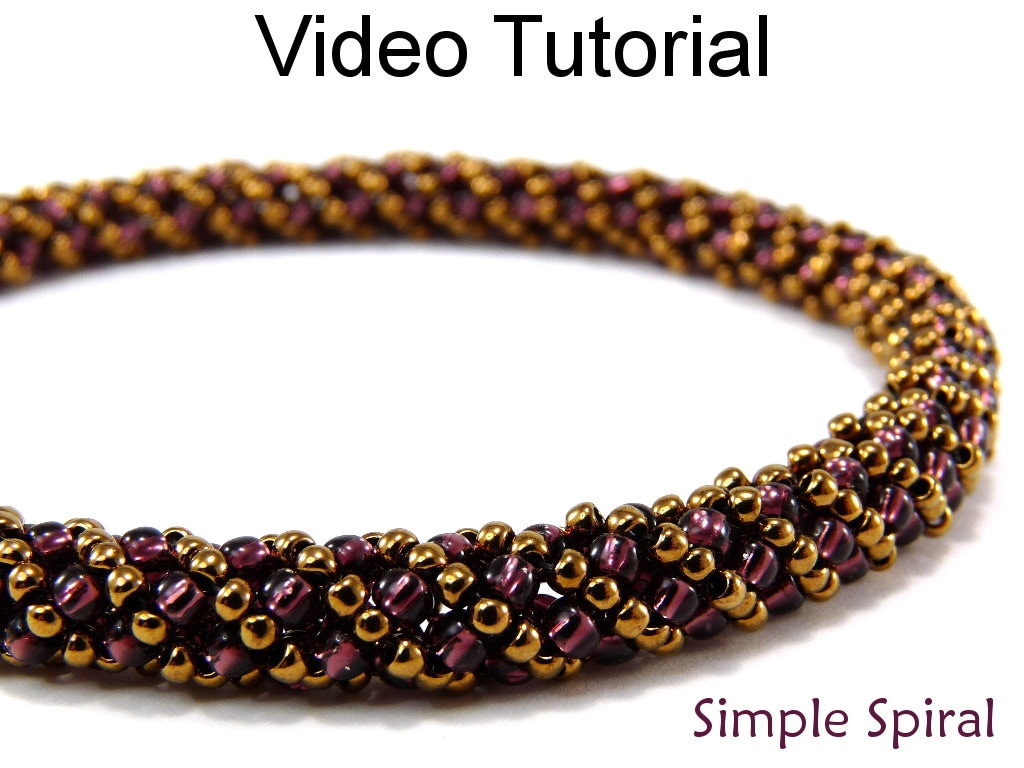 Beading Tutorial Pattern Russian Spiral Stitch Beaded Jewelry ...