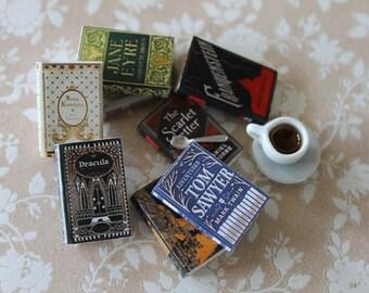 Dollhouse miniature classic books set n.2