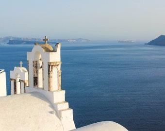 Caldera at Golden Hour, Oia, Santorini | Greece Photography