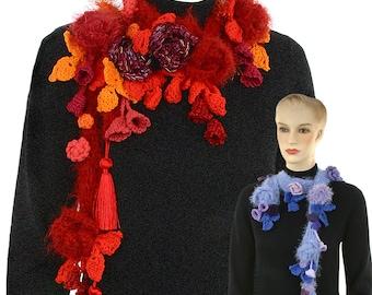 Crochet Pattern Floribunda Freeform Scarf pdf