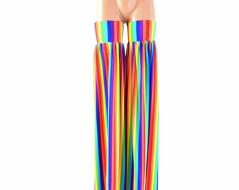 Stilt Covers in Rainbow Stripe Spandex Stilting Leg Covers Cirque Costume 153977