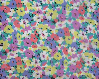 5.5 yards vintage polyester floral dress blouse fabric