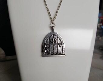 Fairy garden arched door necklace/keyring & Door necklace | Etsy