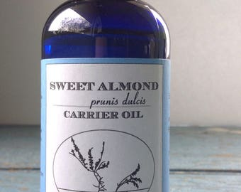 Sweet Almond Oil - Aromatherapy - Carrier Oil - Sweet Almond Oil - Base Oil Almond Oil Massage Oil