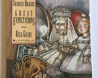 GREAT EXPECTATIONS Graphic novel Rick GEARY illustrated - 1990 first edition Classics Illustrated