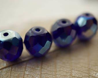 Saphire Bliss, 10mm Beads, Czech Beads, N2041