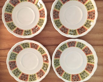 Four Vintage Saucers by Syracuse China, 1970s