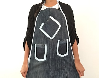 Aprons from Second Hand Jeans - Recycled Denim - Personalised apron - Denim apron - Linens - Handmade apron - Upcycled denim - Eco friendly