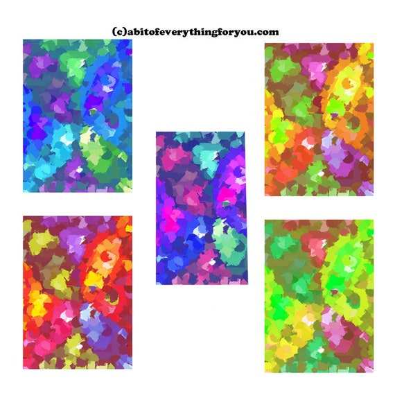 Abstract paint daubs impressionism pattern printable wall art print original art digital paintings colorful art home decor backgrounds