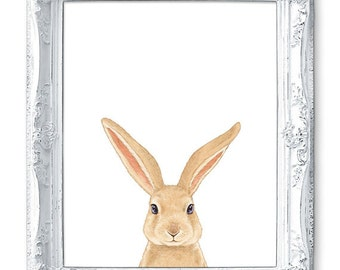 Bunny Nursery Art Bunny Painting Bunny Print Bunny Art Baby Bunny Rabbit Nursery Painting Nursery Print Nursery Decor Boy Room Girl Room Art
