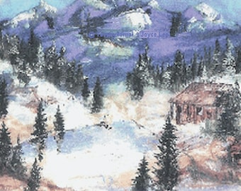 Winter Wonderland  is a 16 X 20  Giclee Print  It is a beautiful print of a scene of the wilderness
