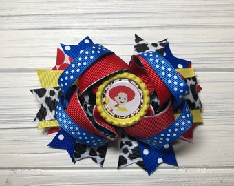 "Disney toy Story Jessie   5.5"" Hair bow"