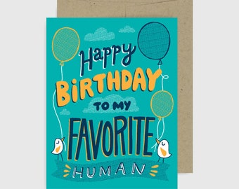 Birthday Card - Favorite Human