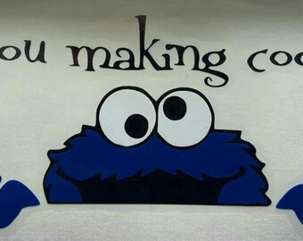 Cookie Monster Are You Making Cookies Decal For KitchenAid Mixer