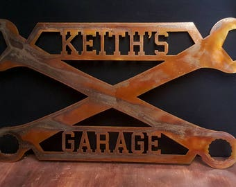 Garage sign, tool sign, custom garage sign with name, personalized sign for garage or shop. Father's Day gifts, man cave signs, custom sign