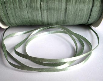 10 m lichen green 3mm satin ribbon