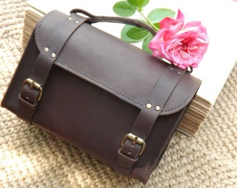brown leather bag Leather genuine leather, leather organizer, men's holder,  holder for men, premium quality leather cosmetic bag