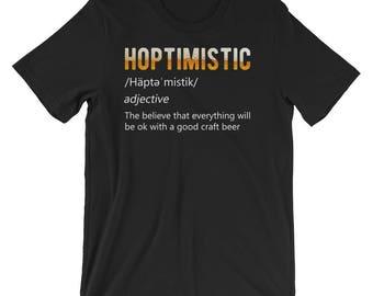 HOPTIMISTIC | Beer Homebrew T-Shirt