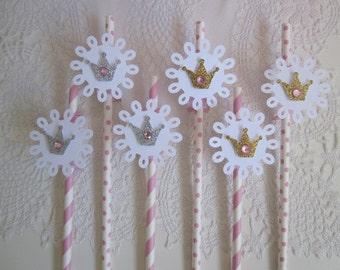 Princess Straws, Princess Toppers, Princess Straws Toppers, Princess Birthday, Princess Party Favors, Princess Favors, Set of 10