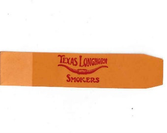 Vintage Texas Longhorn Smokers Cigar Band, 1930-50s