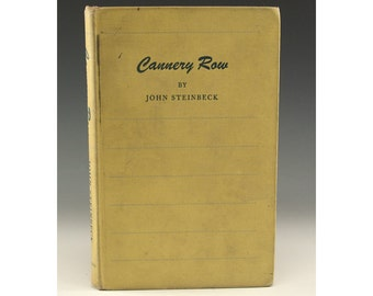 First Edition - Cannery Row by John Steinbeck - Viking Press 1945 - Printed by The Haddon Craftsmen