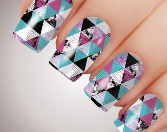 Geometric - ULTIMATE COLLECTION - Full Nail Decal Water Transfer Tattoo #5073