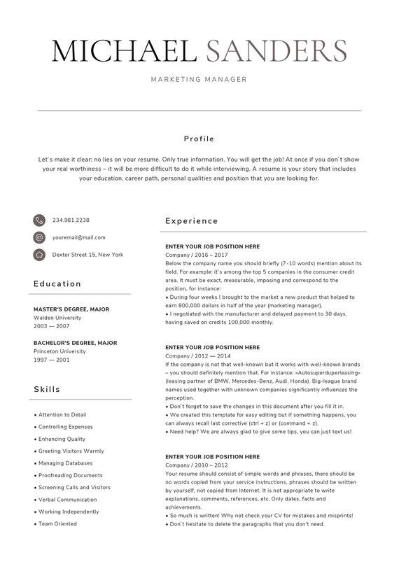 Fein Lebenslauf Vorlage Für Mac Seiten Fotos - Dokumentationsvorlage ...