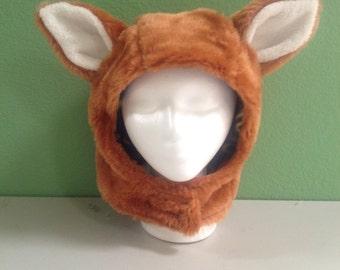 Fox Hat, Adult Fox Costume, Animal Hat, Red Fox, Fox Ears