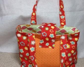 Handmade Diaper Bag Beach Bag Purse Handbag