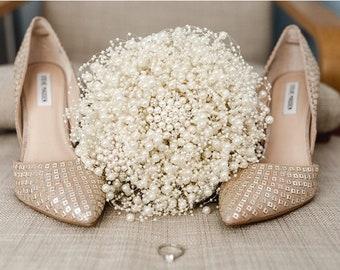 Bubble pearl wedding bouquet in ivory - ivory bouquet - pearl bouquet - brides bouquet - bridal bouquet - brooch bouquet - wedding flowers