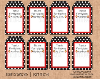 Printable teacher appreciation gift tags by printable teacher appreciation gift tags printable thanks for helping me grow teacher tags by sunshinetulipdesign negle Image collections