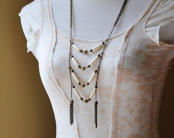 HAIRPIPE LADDER Necklace by MOONDROPS