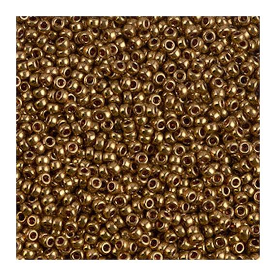 Miyuki M-11-457L - 11/0 Metallic Lt Bronze (Like DB 22L) Miyuki Seed Beads 5 gm