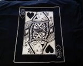 queen t-shirt  Tee gift cards playing queens t-shirts card casino  shirt