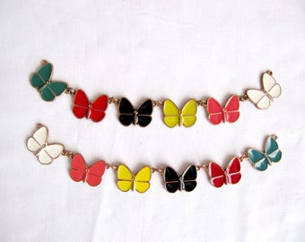 Priego Butterfly Pin,Colored Butterfly Necklace,Emanel Butterfly Embellishment,Portable Butterfly Necklace,