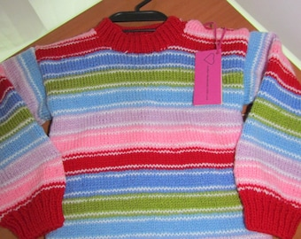 """Sweater Children, hand-knitted sweater CHUCKY Dolls """"Good Guys"""", Kids shirt for child, sweater knitted"""