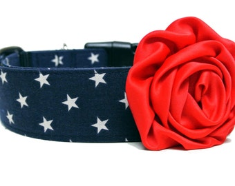 Dog Collar Flower Add-on Pink Purple or Red Rose Dog Flower