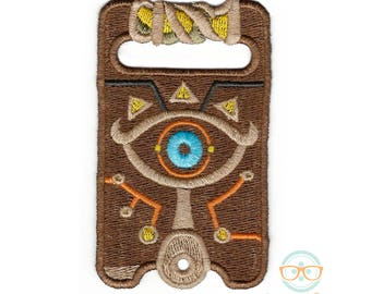 Legend of Zelda Patch - Sheikah Slate - Breath of the Wild - Video Game Embroidered Iron on Patch or Applique