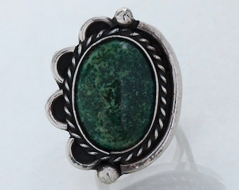 Vintage Ring - Vintage Native American Sterling Silver Chrysocolla Ring