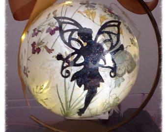 Fairy Night Light, Fairy Gift, Fairy Bauble, Light Up Gift, Fairy Mood Light, Gift for Her, Birthday, Christmas, Bottle Lamp