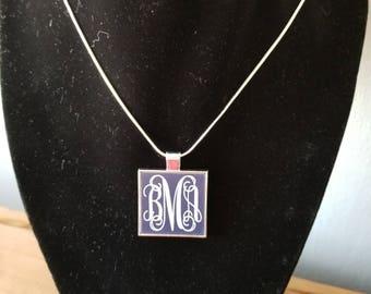 monogram charm. necklace monogram.