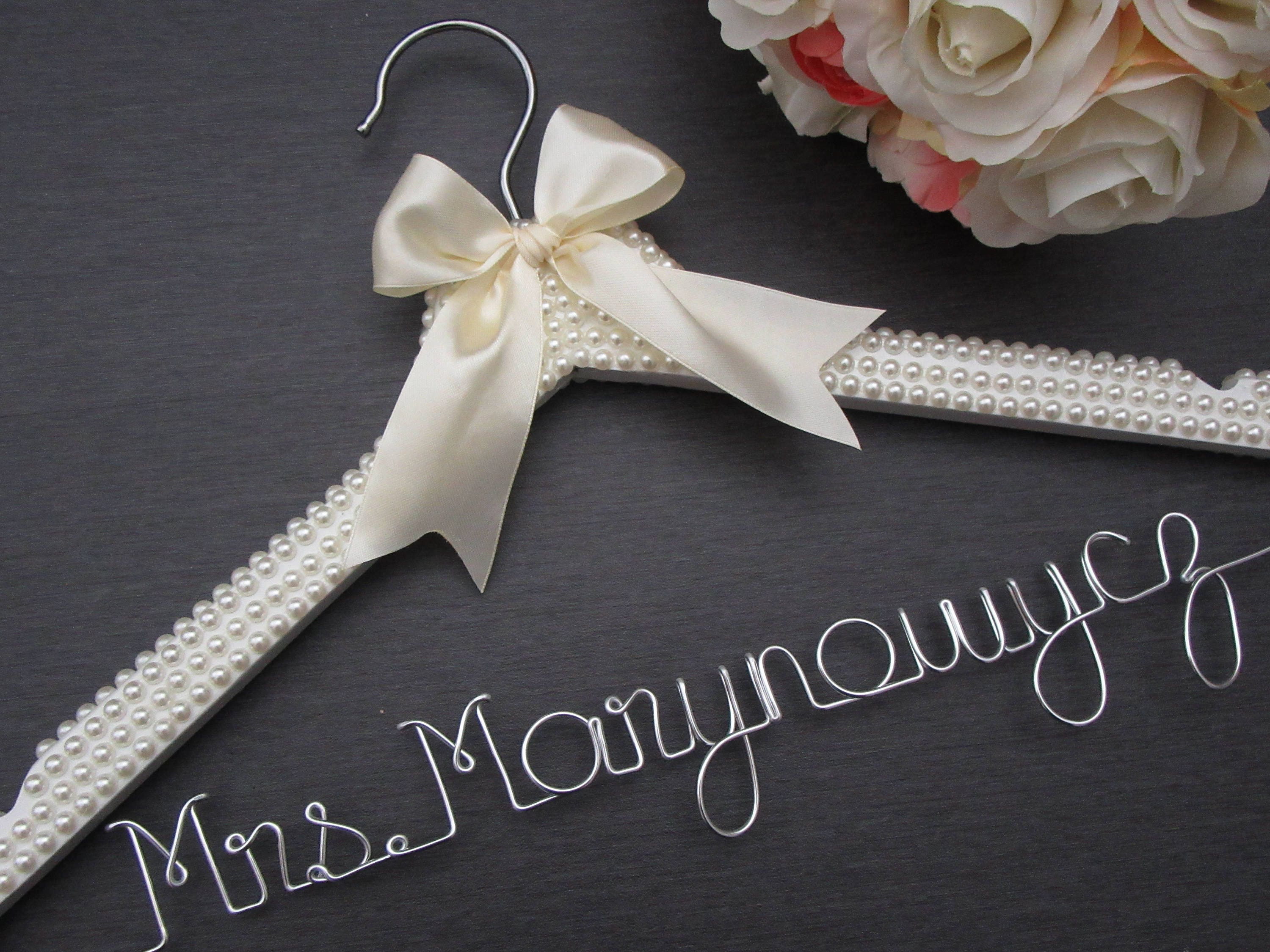 Personalized Wedding Dress Hanger Pearl Wedding Dress Hanger