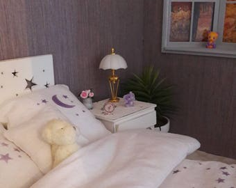 Alarm clock 1/6 for Barbie dolls, Blythes, fashion royalty, Pullip or others of the same size